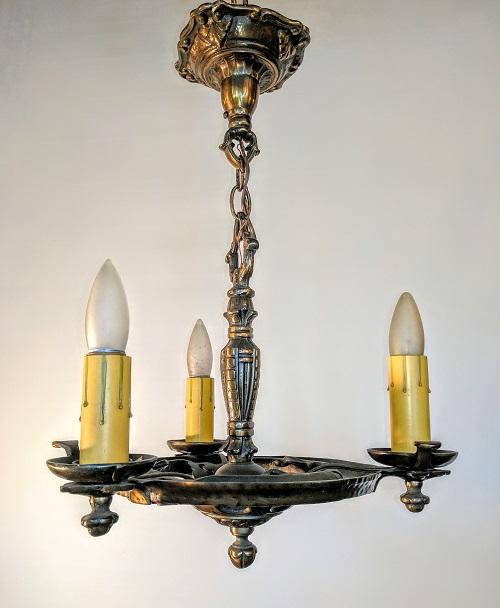 Vintage Revivals Light Fixture: Vintage Tudor Revival Three Light