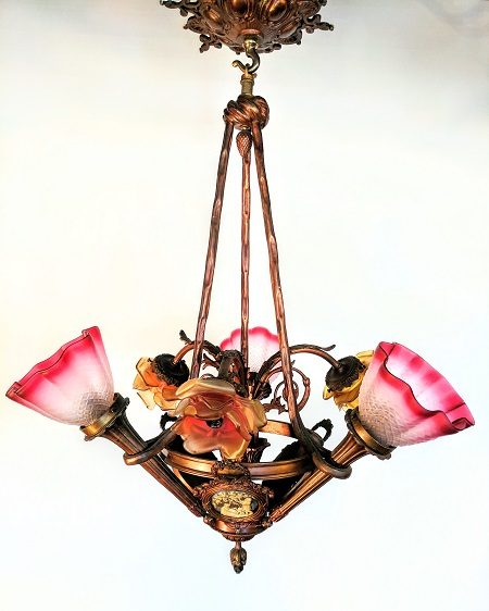 Antique french five light chandelier waterglass studios ltd antique french five light chandelier aloadofball Images